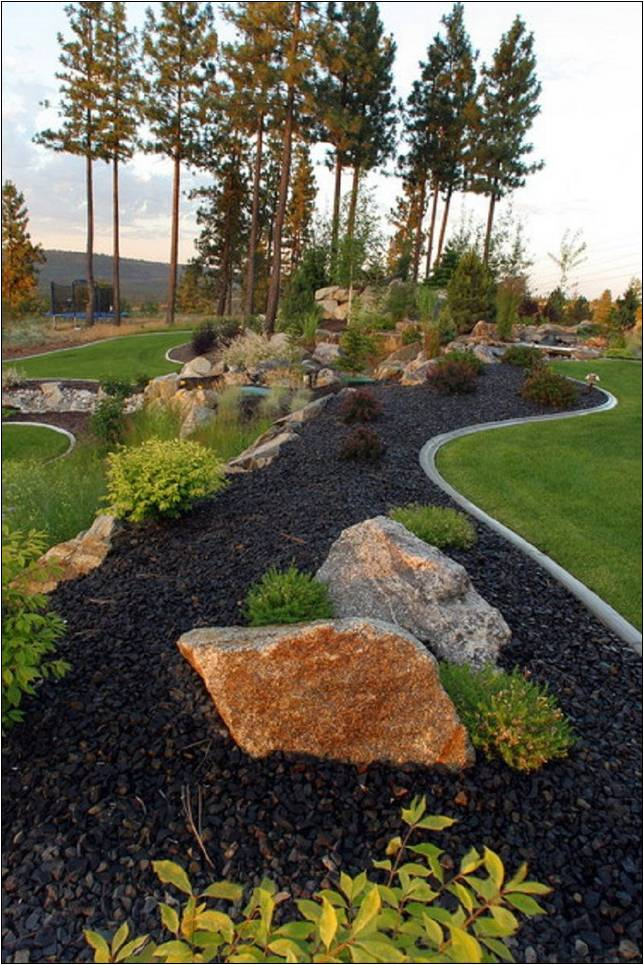 Black Lava Rock Landscaping Ideas Home Improvement