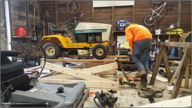 Homemade Lawn Mower Lift Table Home